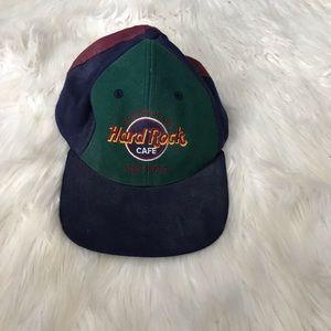 Vintage Hard Rock Cafe colorblock SnapBack hat